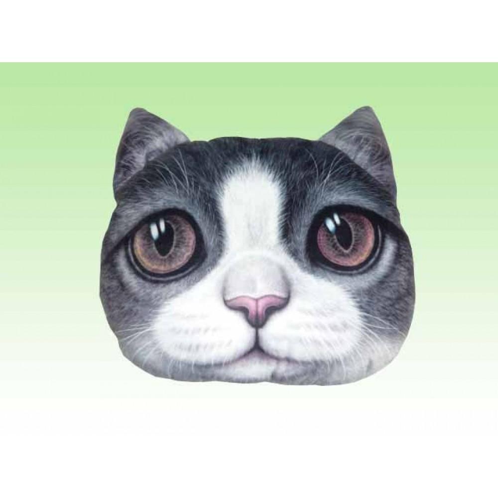 Подушка декоративная Кошка 3D большая