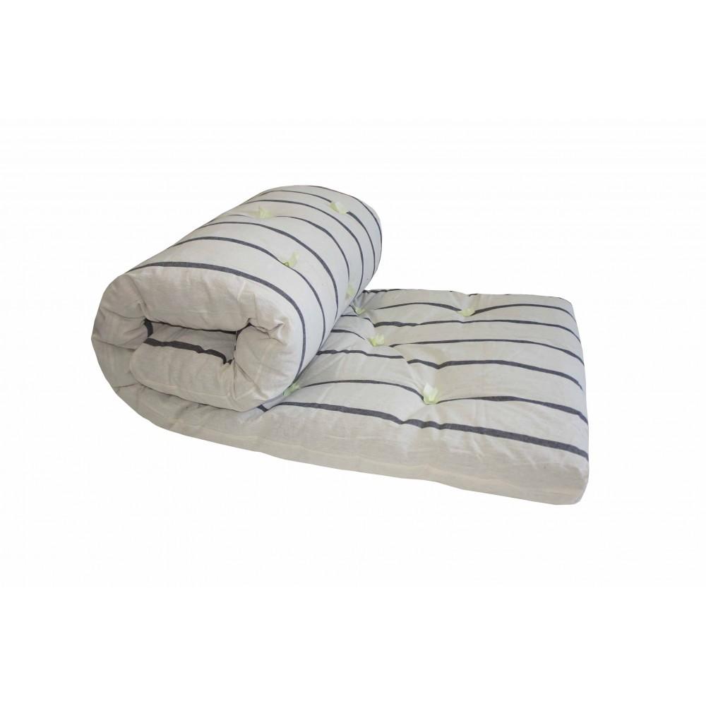 Матрас ватный для общежитий и хостелов 110х190 ткань тик