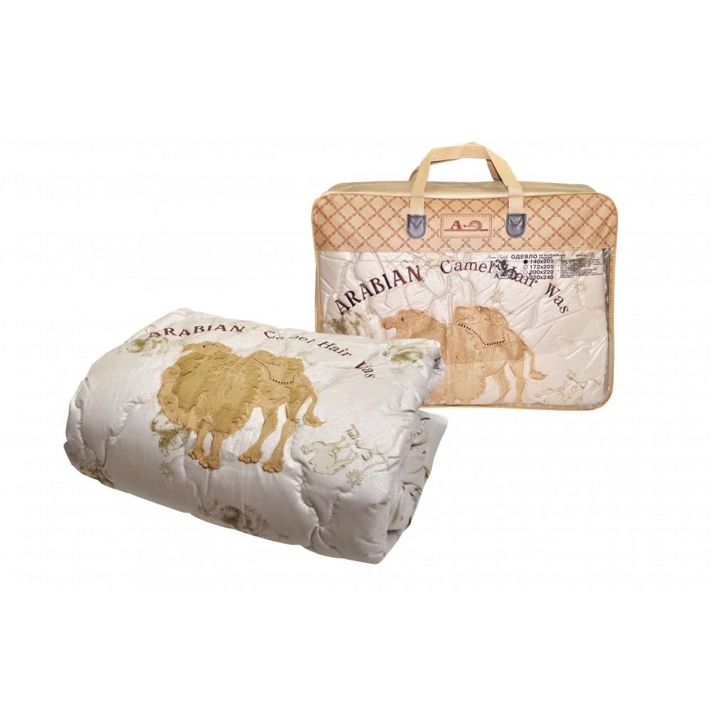 Одеяло из верблюжьей шерсти Camel Grass утолщенное 200x220, 172x205, 140x205 (силиконизированное волокно)