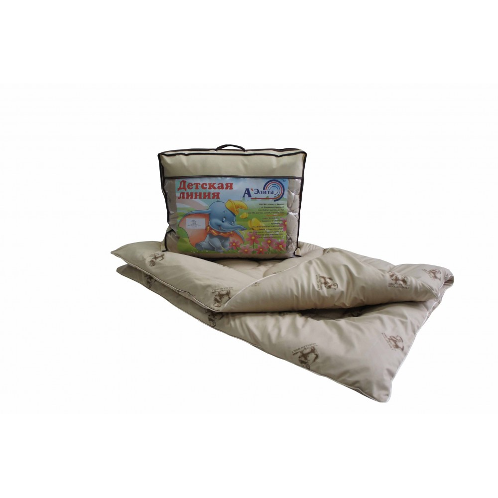 Одеяло из овечьей шерсти Этюд  для детей 110x140