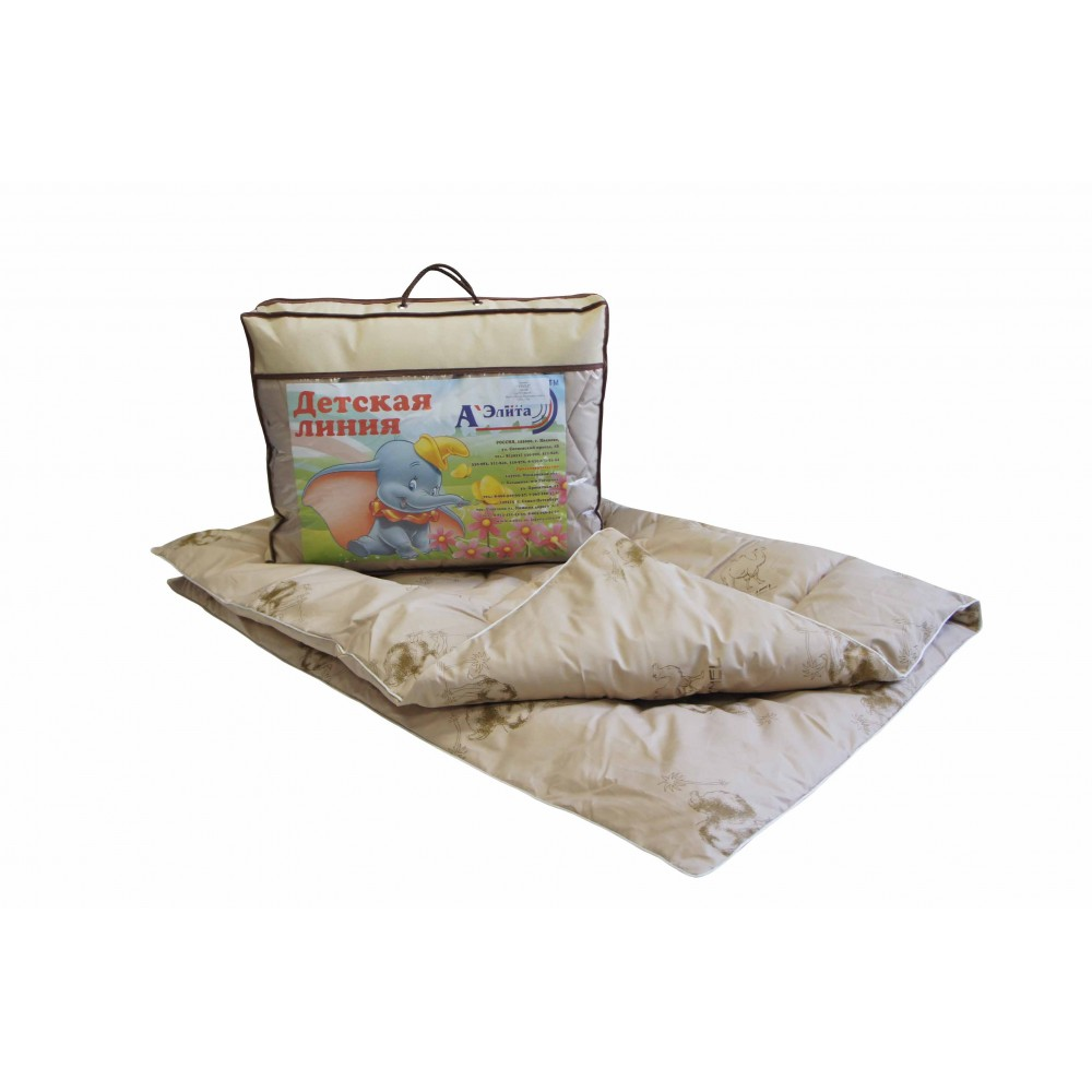 Одеяло из верблюжьей шерсти Этюд утолщенное для детей 110x140