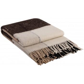 Плед шерстяной Эльф Классик VLADI 140x205, 170x210, 200x220 из новозеландской шерсти и пан