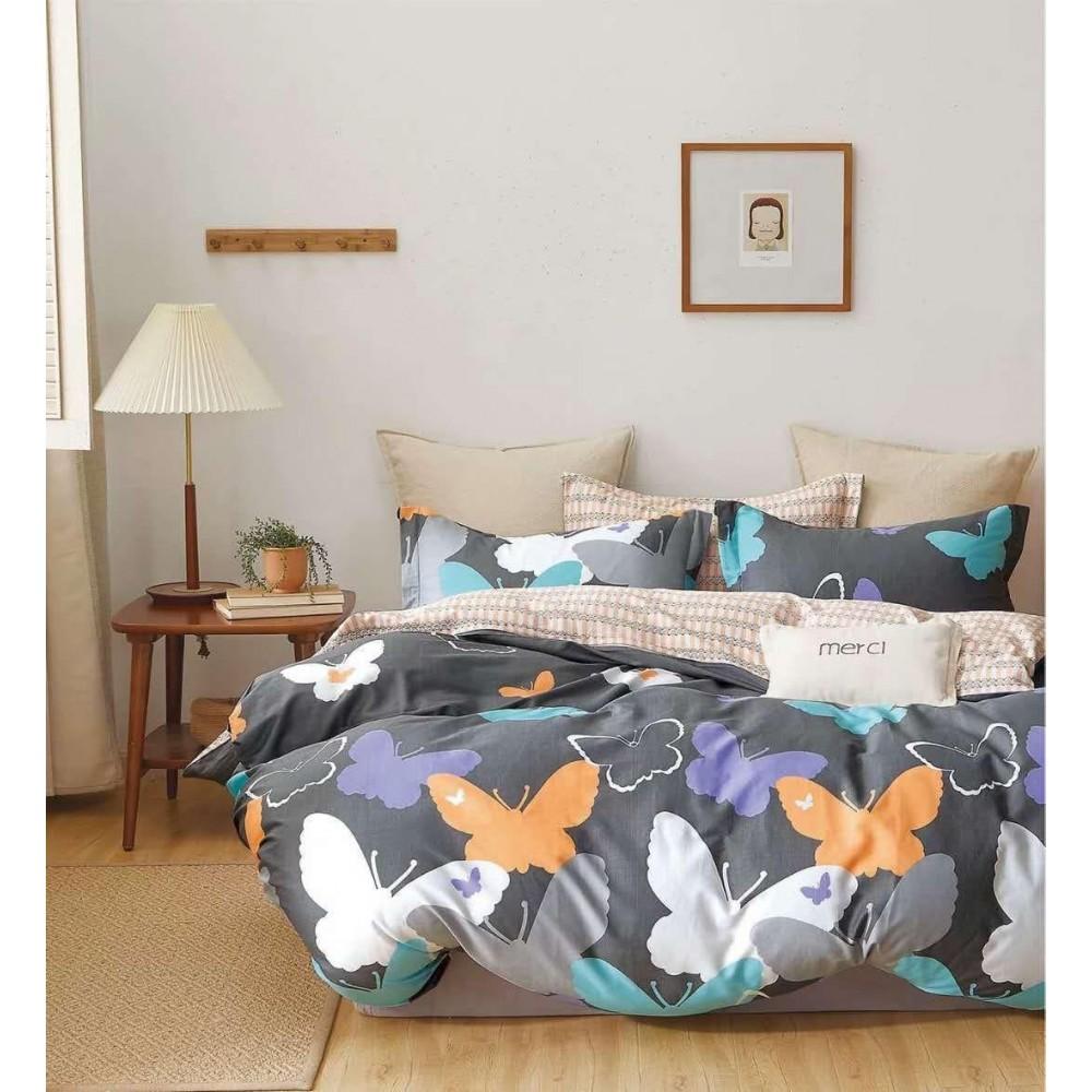 Комплект постельного белья Сатин 100% хлопок Бабочки