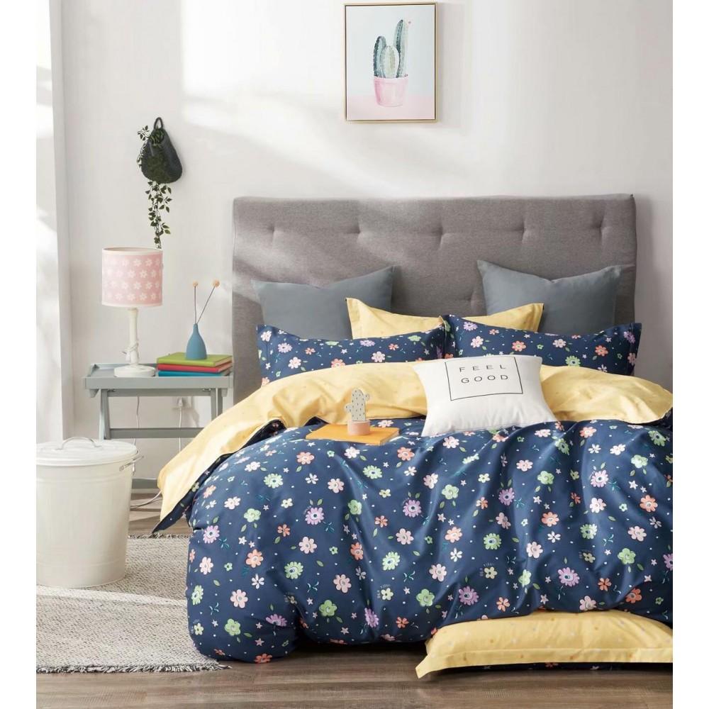 Комплект постельного белья Сатин 100% хлопок Ночной сад