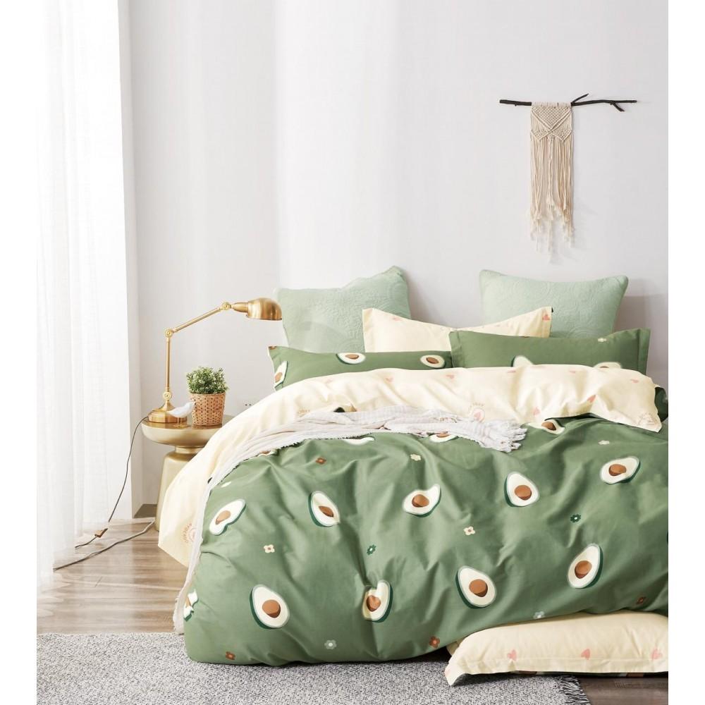 Комплект постельного белья Сатин 100% хлопок Авокадо