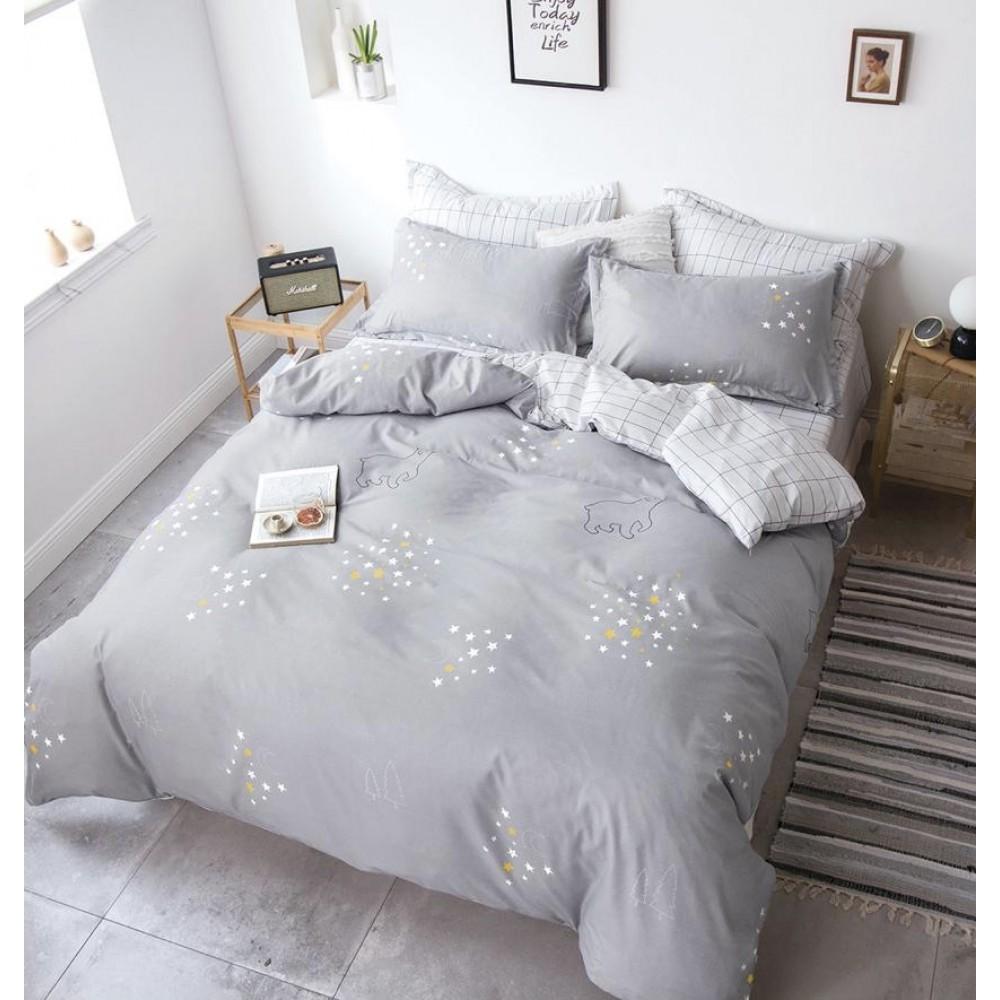 Комплект постельного белья Сатин Alanna Полярная ночь