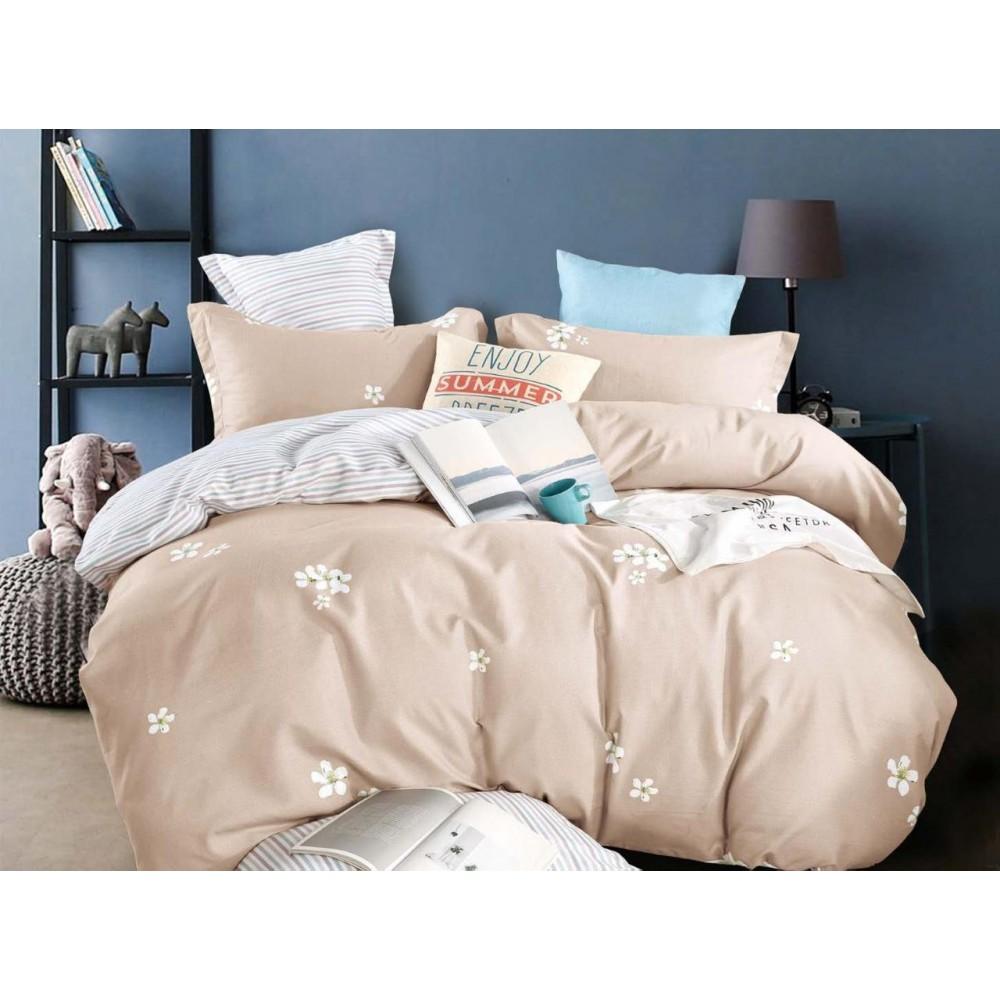 Комплект постельного белья Сатин на резинке Капучино