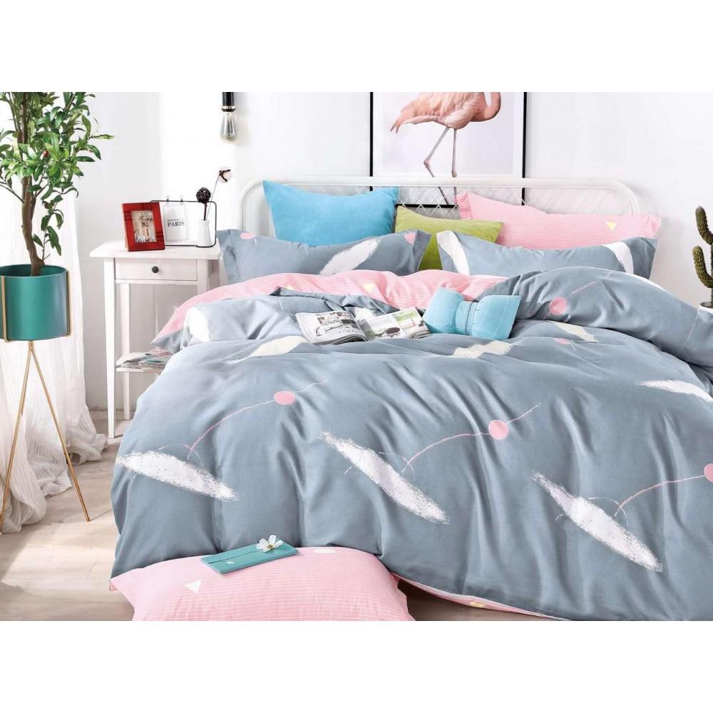Комплект постельного белья Сатин на резинке Акварель
