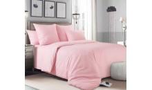 Комплект постельного белья Сатин Премиум однотонный Пломбир
