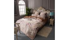 Двустороннее постельное белье Шелк-сатин (евро) Розовые сны