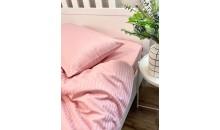 Комплект постельного белья Страйп-Сатин 100% хлопок Розовая пудра