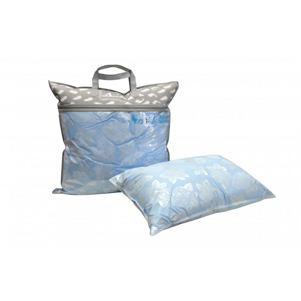 Подушка пуховая для гостиниц Лебяжий пух 60x60, 50x70, 70x70 (поплекс)