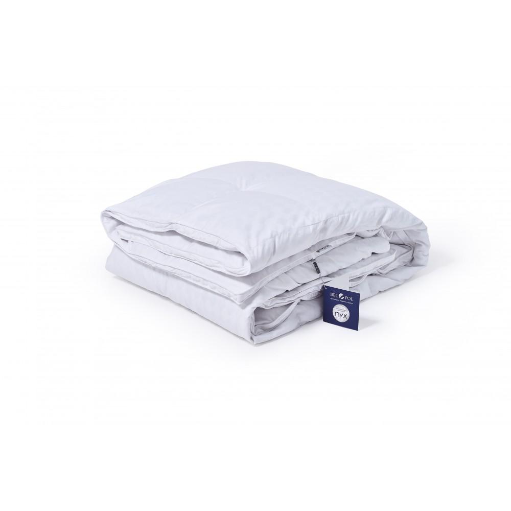Одеяло пуховое кассетное с бортиком Брайтон Фарфор 172x205 гусиный пух
