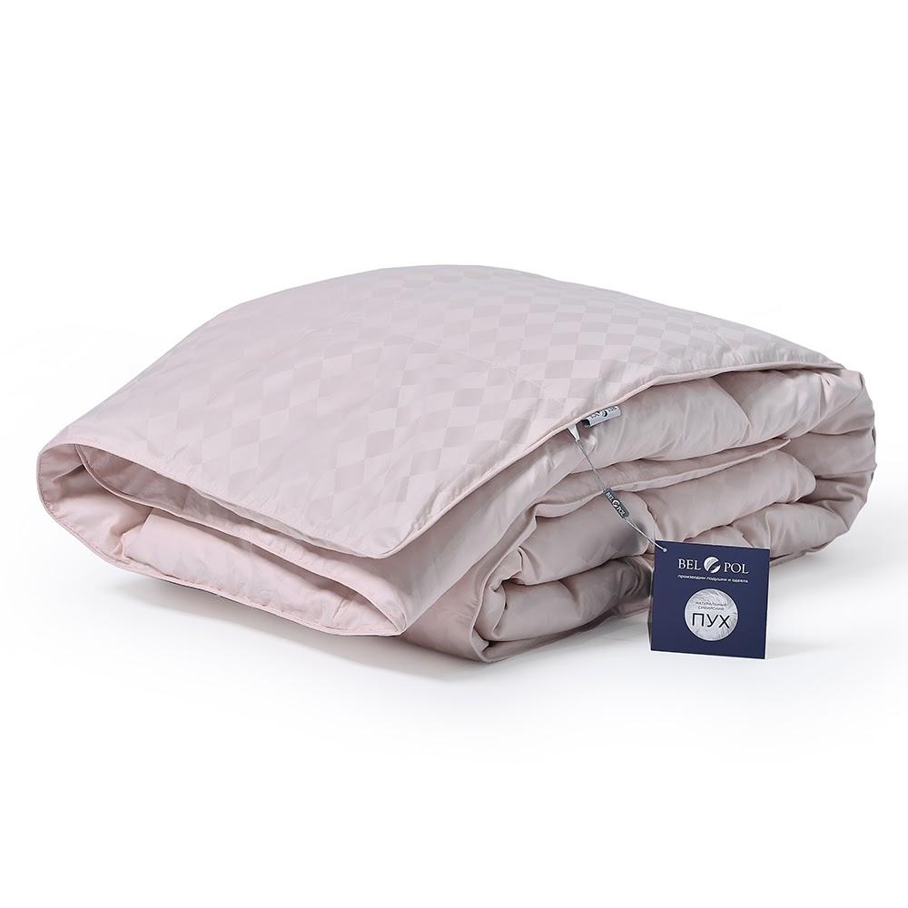 Одеяло пуховое кассетное Эдинбург Пудра 140x205 гусиный пух