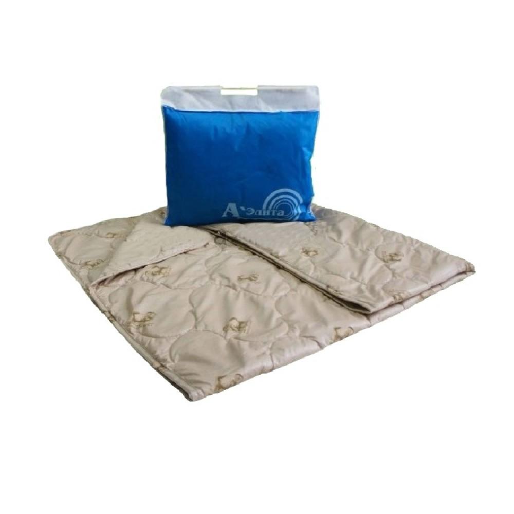 Одеяло из овечьей шерсти Люкс Бест 200x220, 172x205, 140x205, 110x140 (силиконизированное волокно)