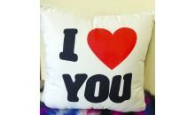 Подушка декоративная с надписью I love you (сердце) 50x50
