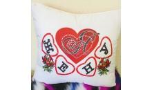 Подушка декоративная с надписью Я люблю жену (сердце) 50x50
