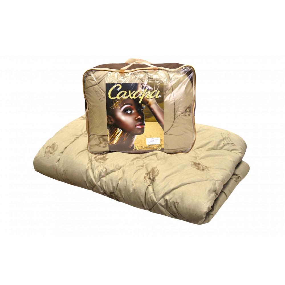 Одеяло из верблюжьей шерсти Сахара утолщенное 200x220, 172x205, 140x205 (силиконизированное волокно)