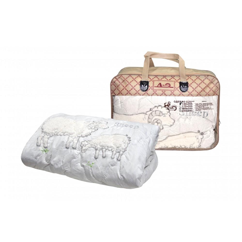 Одеяло из овечьей шерсти Sheep Grass 200x220, 172x205, 140x205 (силиконизированное волокно)