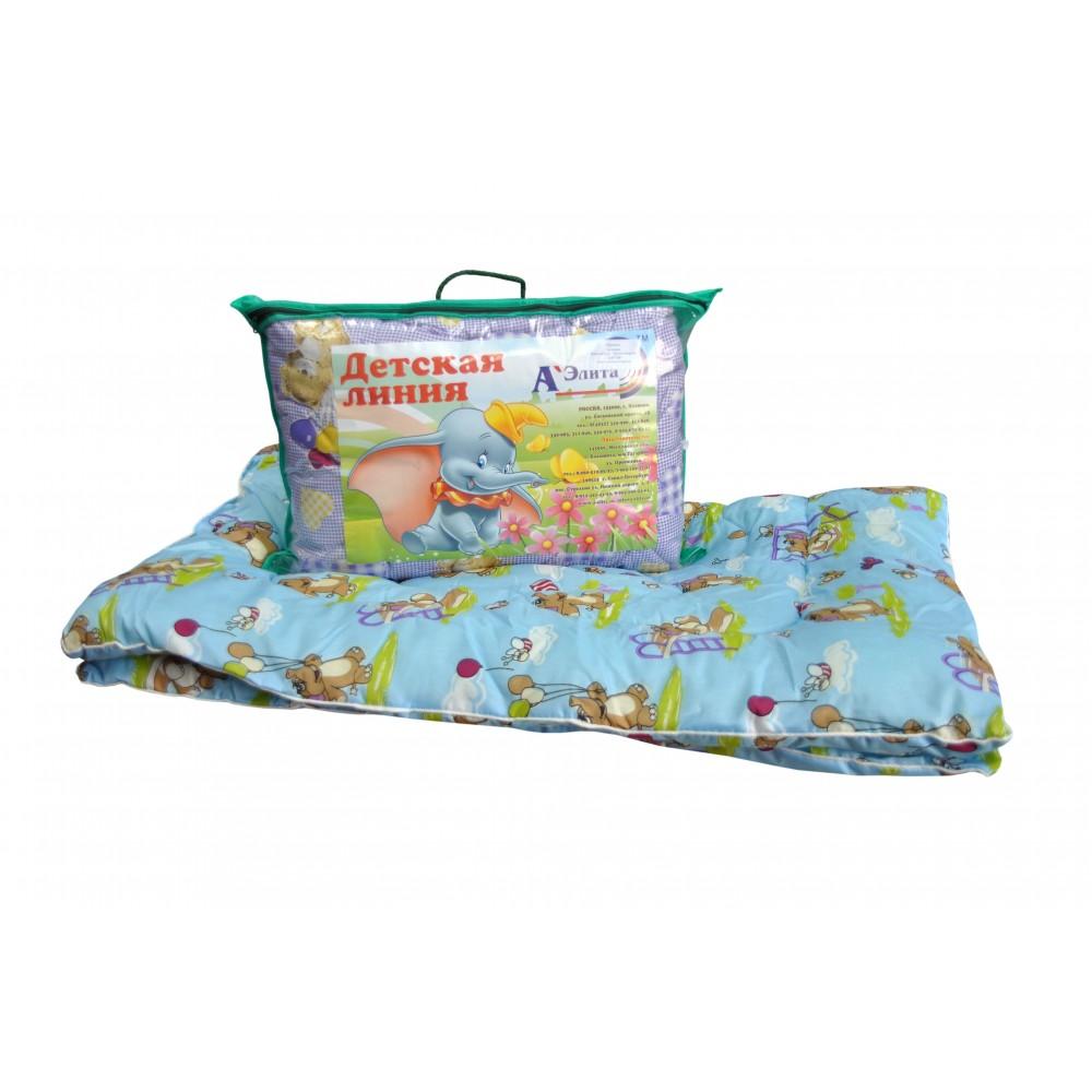 Одеяло из овечьей шерсти утолщенное для детей 110x140