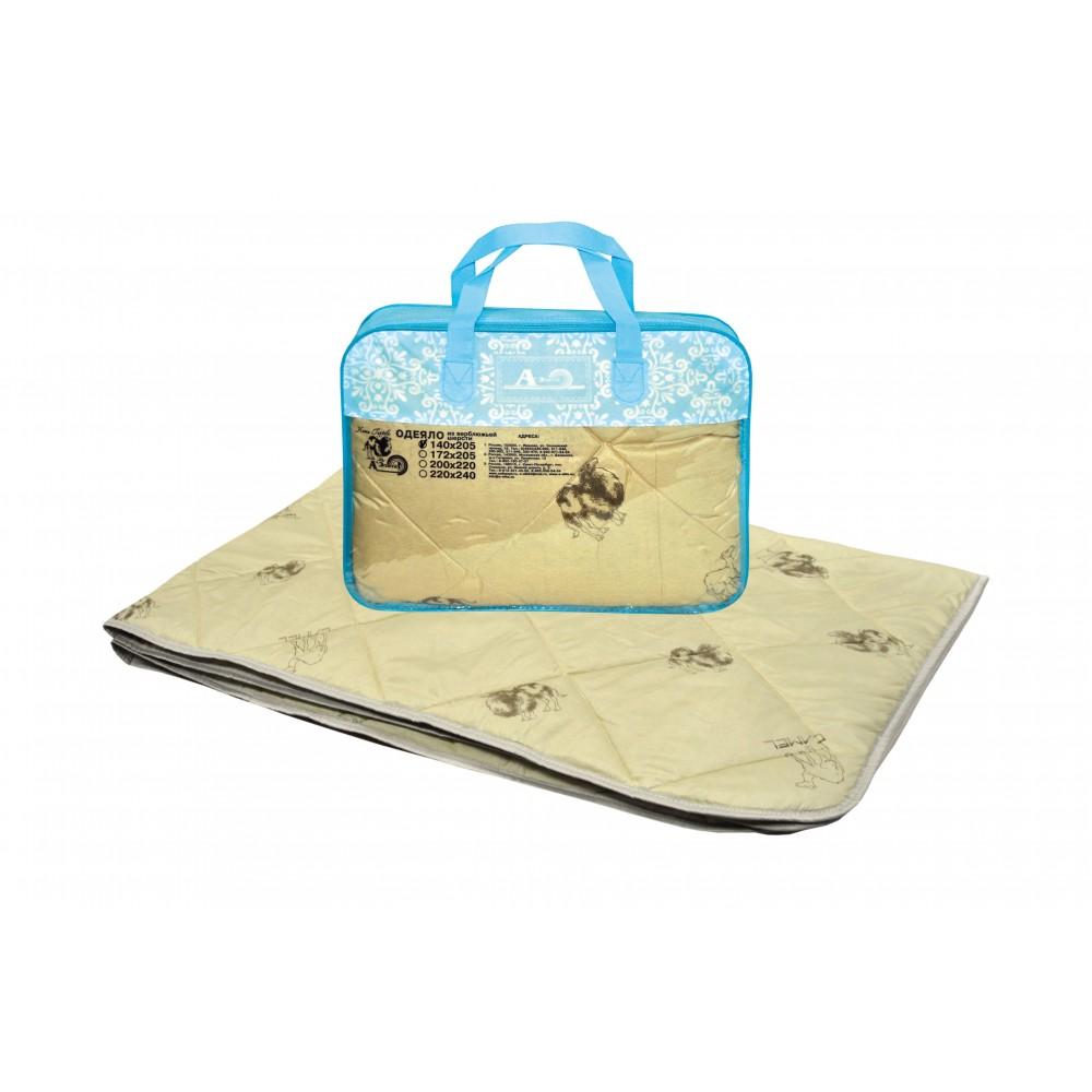 Одеяло из верблюжьей шерсти Степ 220x240, 200x220, 172x205, 140x205 (силиконизированное волокно)
