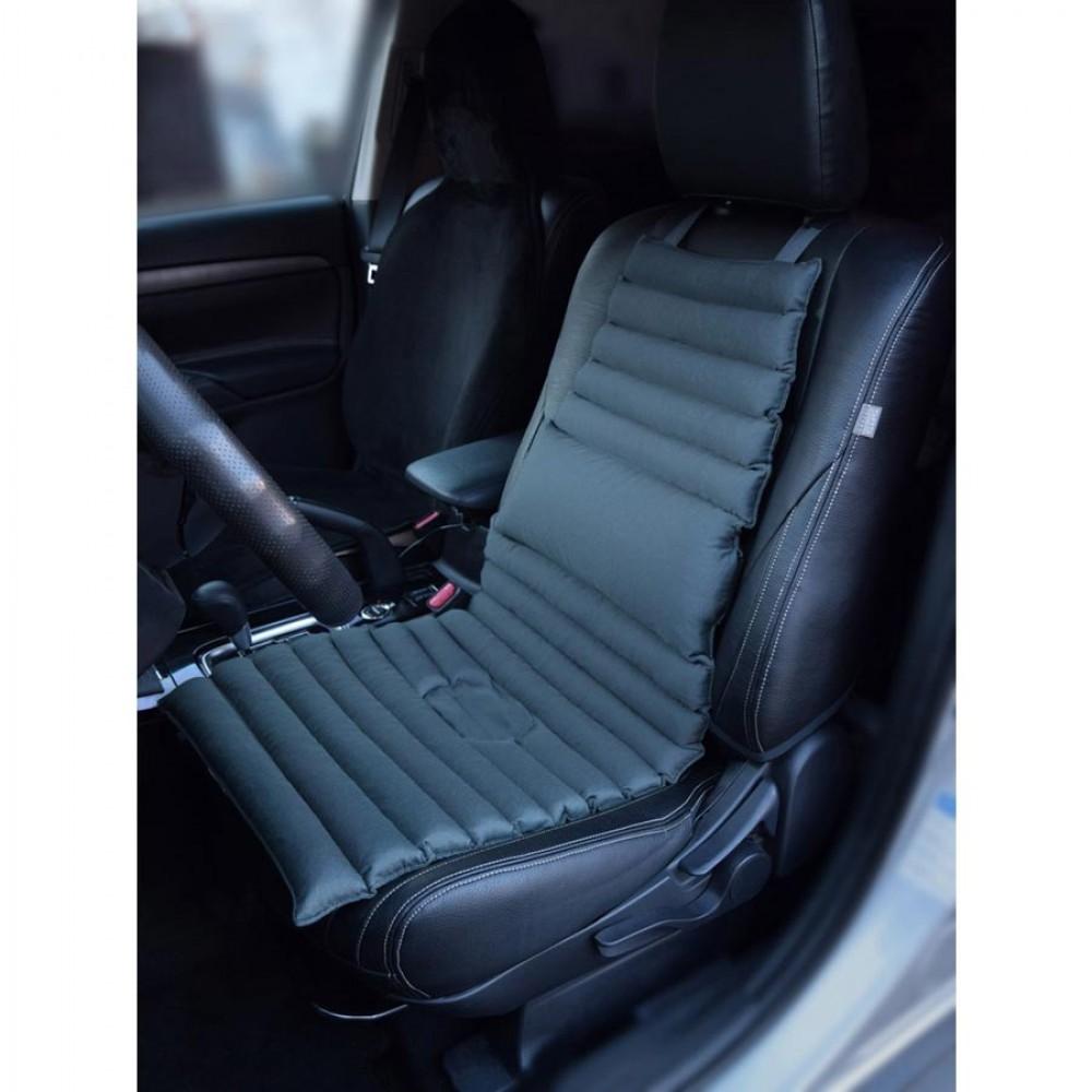 Накидка на сиденье «Гемо-Комфорт Авто» с лузгой гречихи с валиком