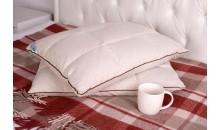 Подушка «Байкальская» с пленкой кедрового ореха и лузгой гречихи простёганная (двусторонняя) 40x60