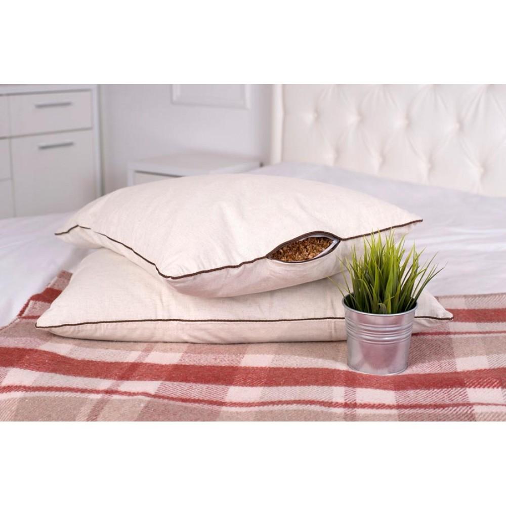 Подушка Кедровая 40x60 с плёнкой кедрового ореха