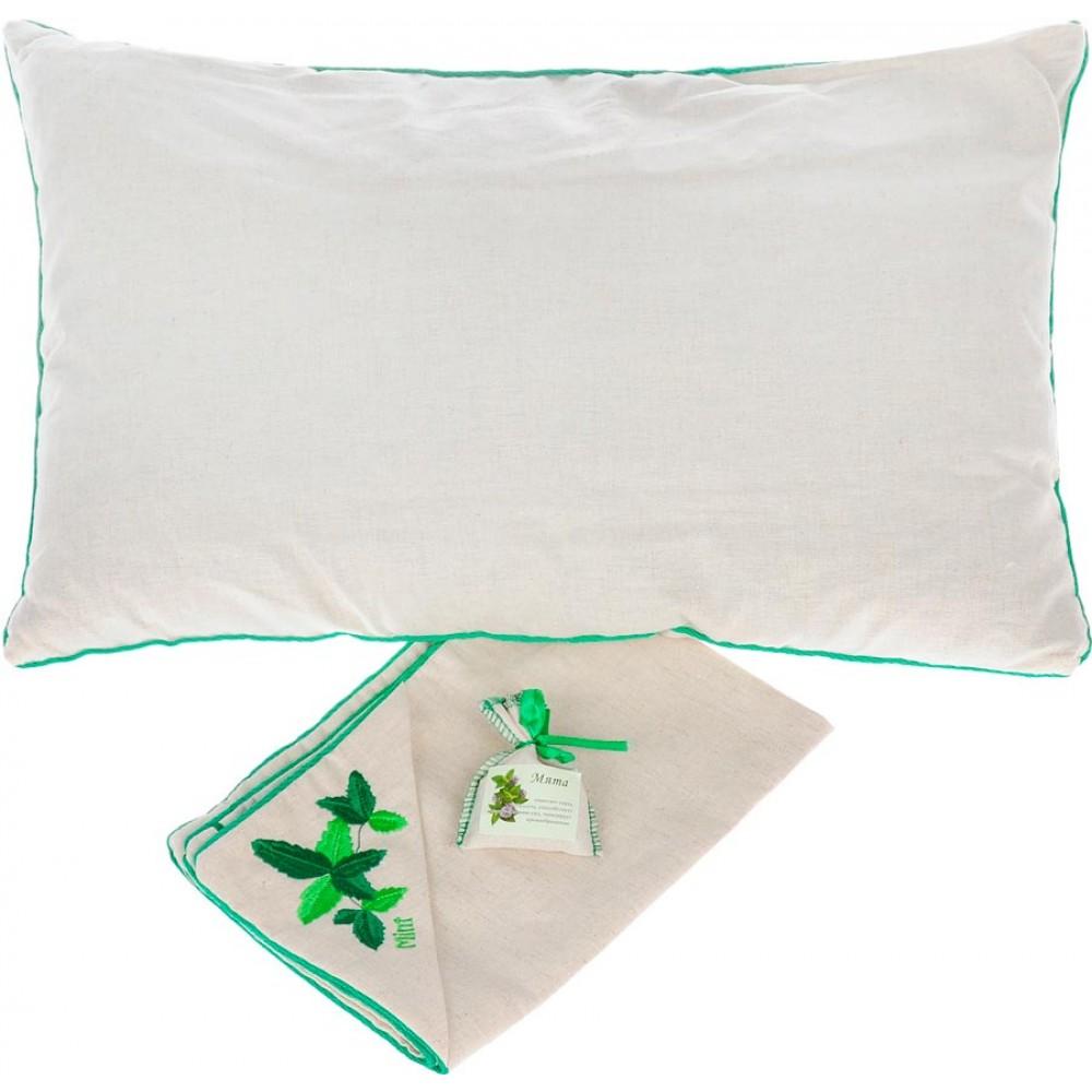 Подушка «Традиция здоровья Мята» с лузгой гречихи 40x60