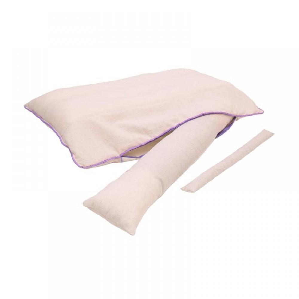 Подушка «Beauty» с валиком из лузги гречихи и лавандой 40x60