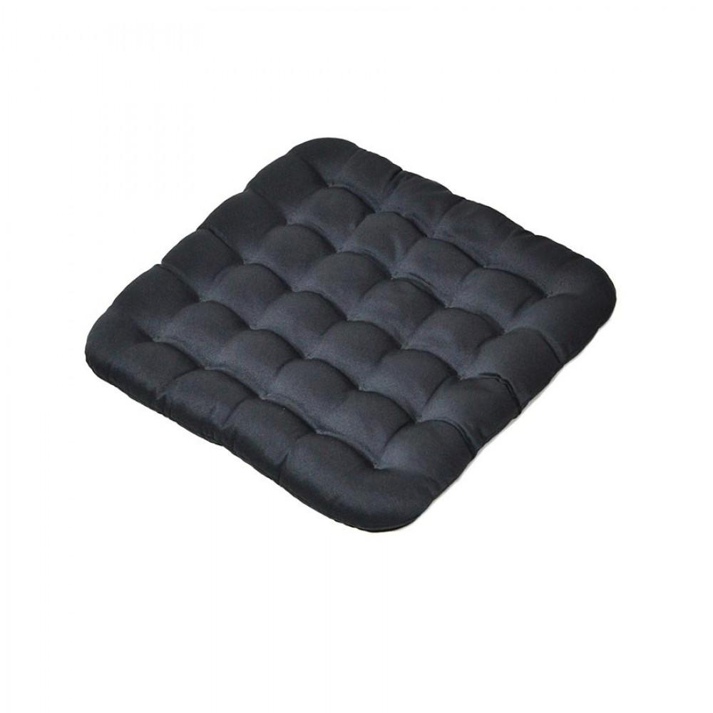 Подушка на сиденье «Уют» с лузгой гречихи с застежкой-молнией 40х40х5