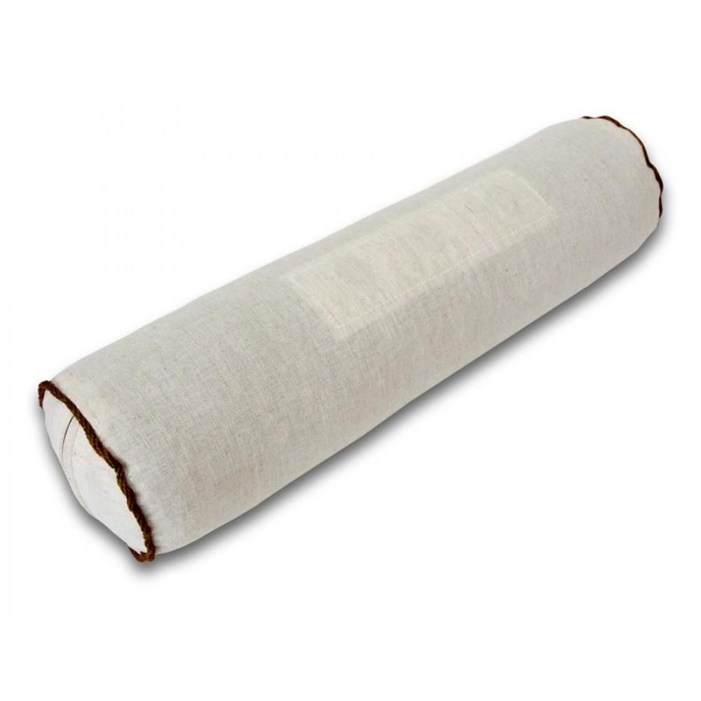 Подушка валик Притяжение-2 40x10 с гречневой лузгой и магнитами